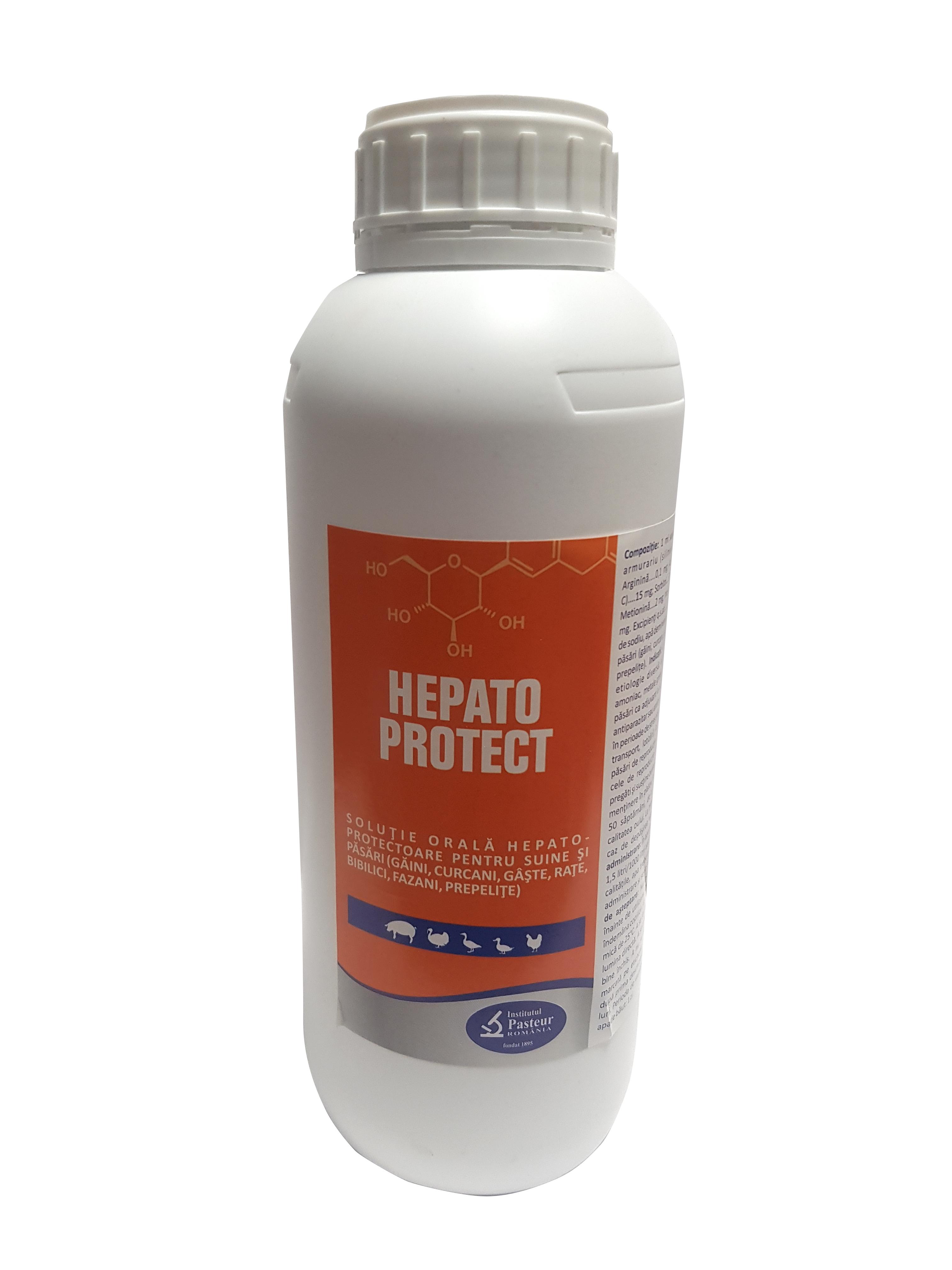 Solutie orala hepato-protectoare pentru suine si pasari, Hepato Protect, Pasteur, 1L 0