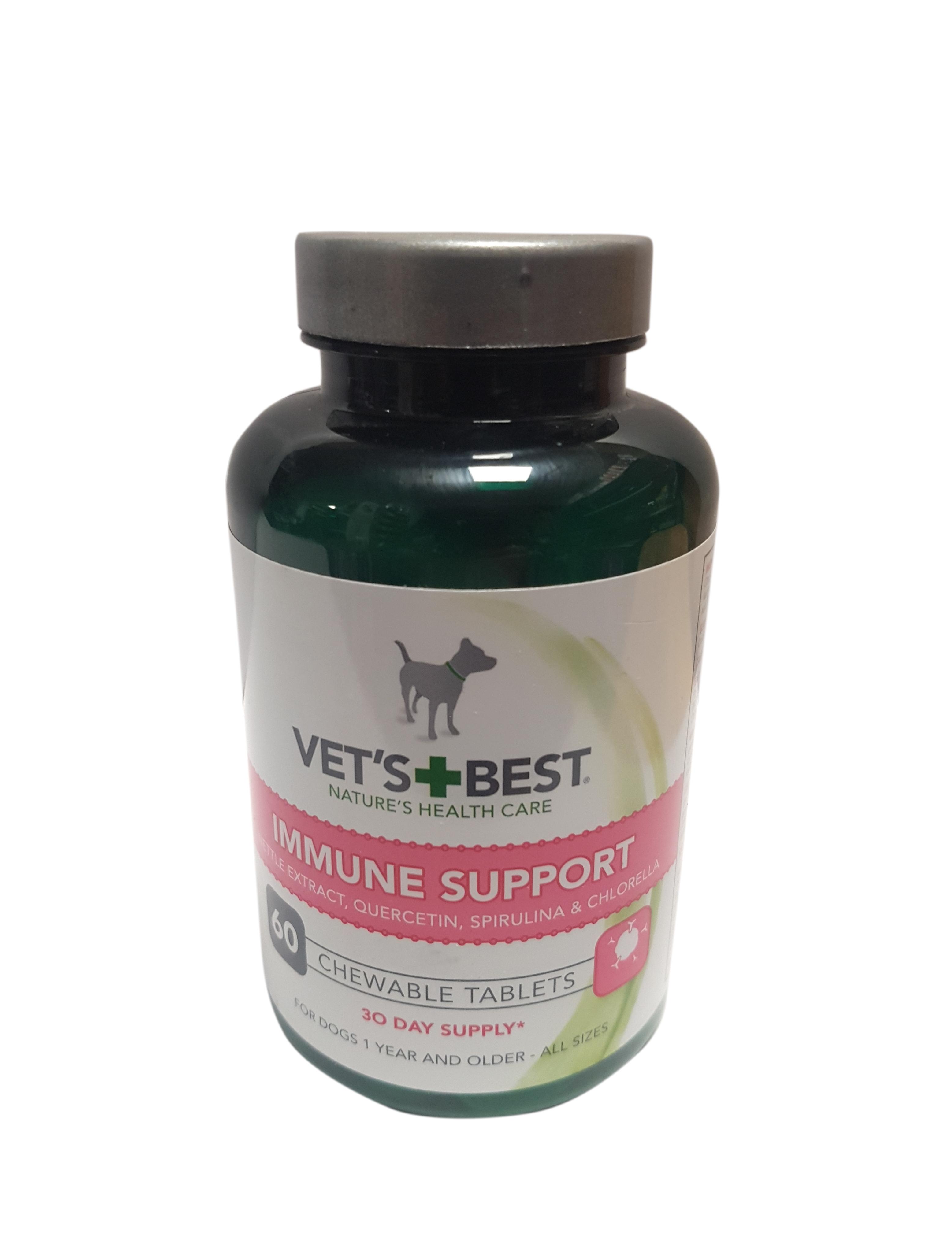 Suplimente masticabile pentru imunitatea cainilor, Vet's Best, 60 capsule 0