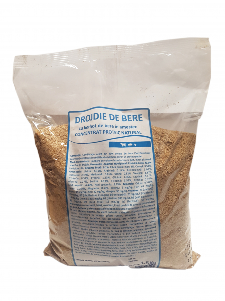 Drojdie de bere furajera, Pasteur, 1.5 Kg 0