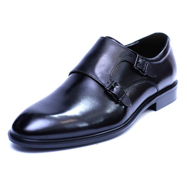Pantofi barbati din piele naturala, Vito, SACCIO, Negru, 41 EU 0