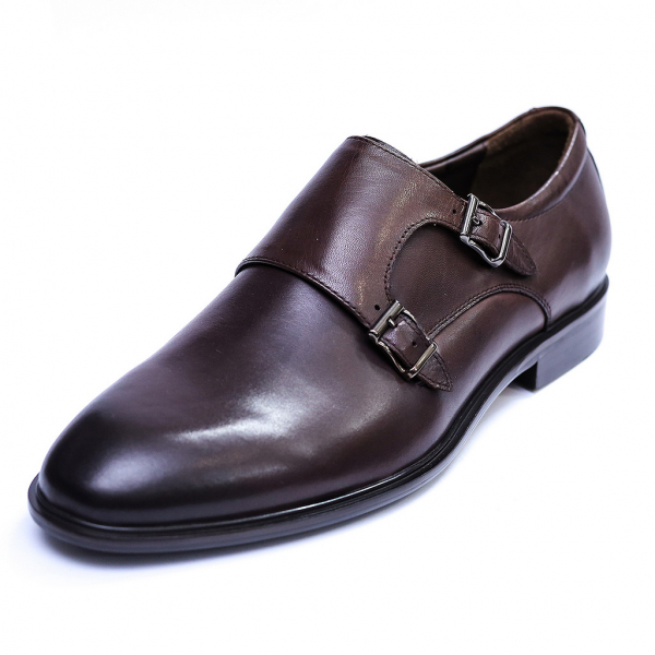 Pantofi barbati din piele naturala, Vito, SACCIO, Maro, 39 EU 0