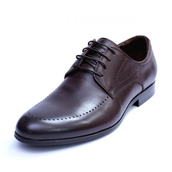 Pantofi barbati din piele naturala, Lee, SACCIO, Maro, 42 EU 0