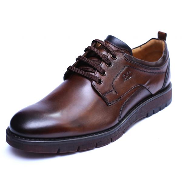 Pantofi barbati din piele naturala, Sir, Gitanos, Maro, 39 EU 0