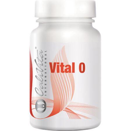 Complex de vitamine pentru grupa 0 cu yuca, turmeric si hrean, Vital 0, 90 tablete, CaliVita [0]
