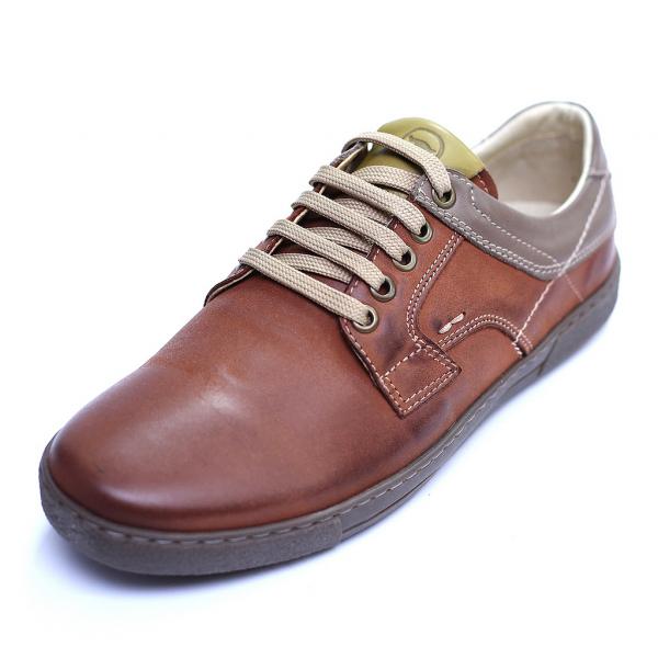 Pantofi barbati din piele naturala, Brad, Gitanos, Maro, 39 EU 0