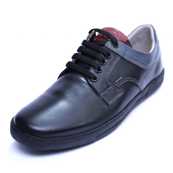 Pantofi barbati din piele naturala, Brad, Gitanos, Negru, 39 EU 0