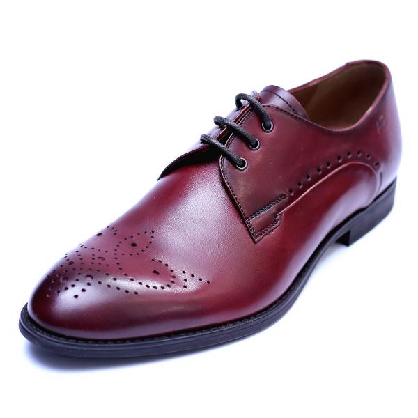 Pantofi eleganti pentru barbati din piele naturala, Soni, ANNA CORI, Bordeaux, 40 EU [0]