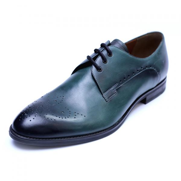 Pantofi eleganti pentru barbati din piele naturala, Soni, ANNA CORI, Verde, 39 EU 0