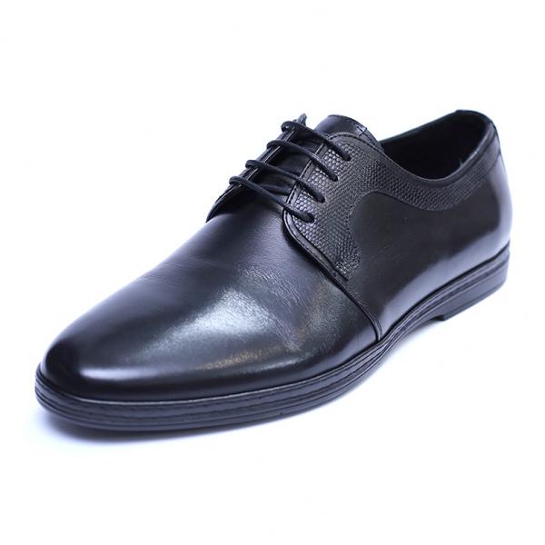 Pantofi barbati din piele naturala, Tom, SACCIO, Negru, 39 EU 0
