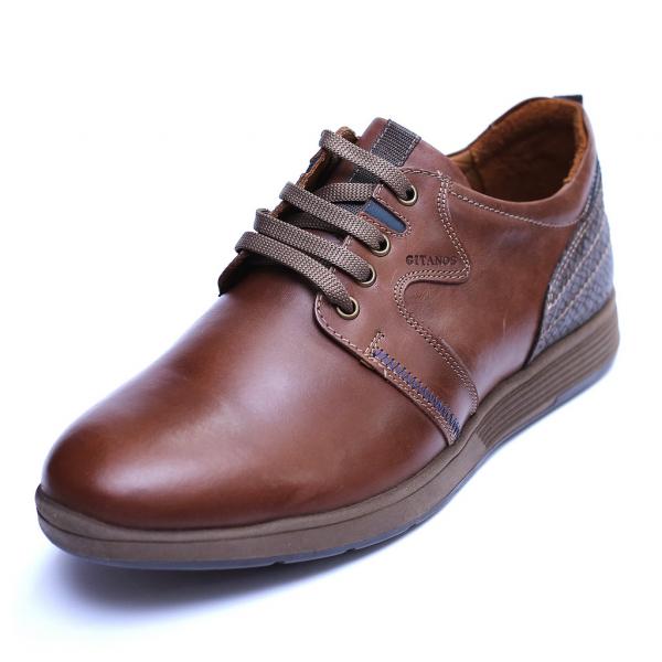 Pantofi barbati din piele naturala, Martin, Gitanos, Maro, 39 EU [0]