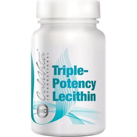 Complex nutritiv cu lecitina din soia, Triple-Potency Lecithin, 100 capsule gelatinoase, CaliVita 0