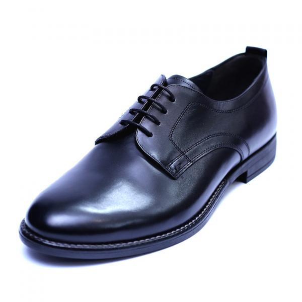 Pantofi barbati din piele naturala, Detective, RIVA MANCINA, Negru, 39 EU 0