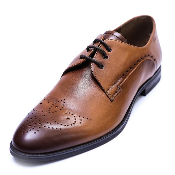 Pantofi eleganti pentru barbati din piele naturala, Soni, ANNA CORI, Maro, 39 EU [0]