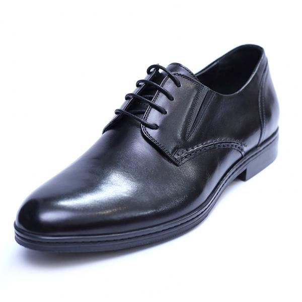 Pantofi barbati din piele naturala, Knight, SACCIO, Negru, 39 EU [0]