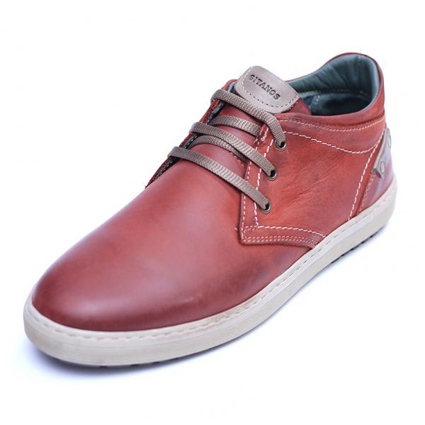Pantofi barbati din piele naturala, Jim, Gitanos, Visiniu, 39 EU 0