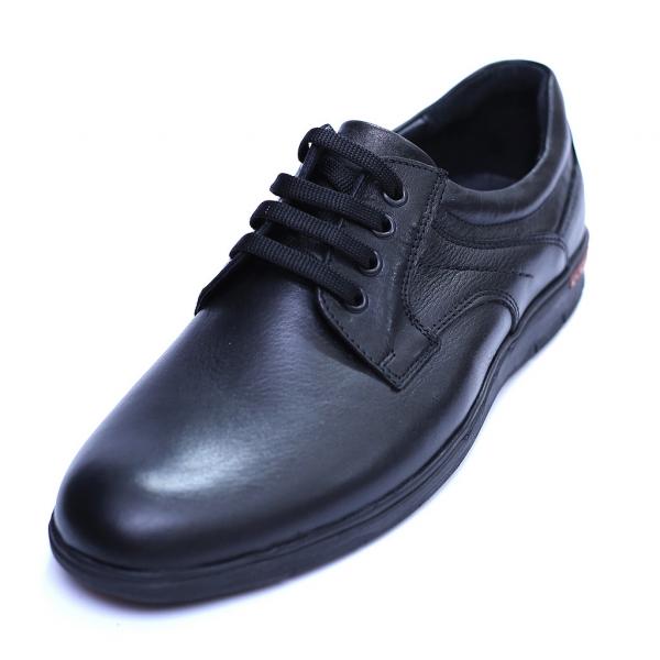 Pantofi barbati din piele naturala, Paul, Negru, 39 EU 0