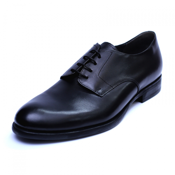 Pantofi barbati din piele naturala, Nico, RIVA MANCINA, Negru, 45 EU 0