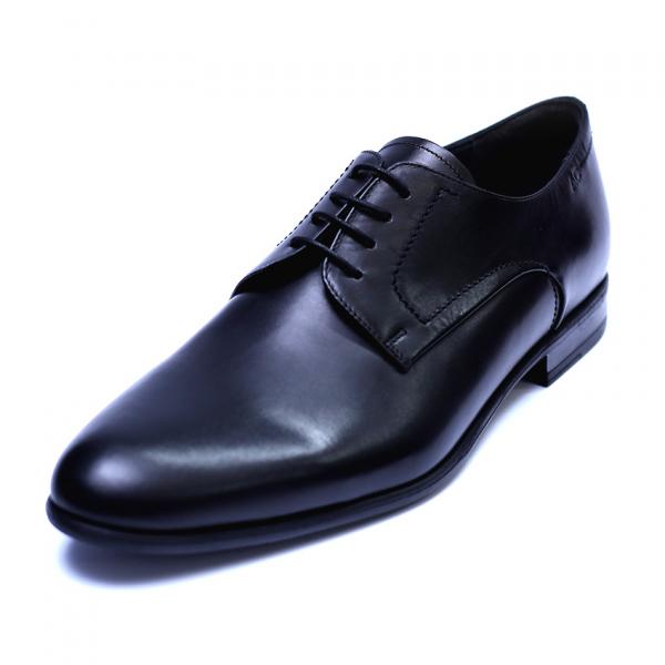 Pantofi barbati din piele naturala, Russel, ANNA CORI, Negru, 39 EU 0