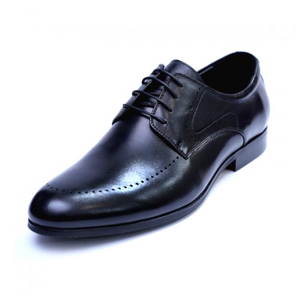 Pantofi barbati din piele naturala, Lee, SACCIO, Negru, 39 EU [0]