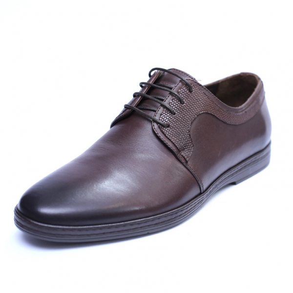 Pantofi barbati din piele naturala, Tom, SACCIO, Maro, 39 EU 0