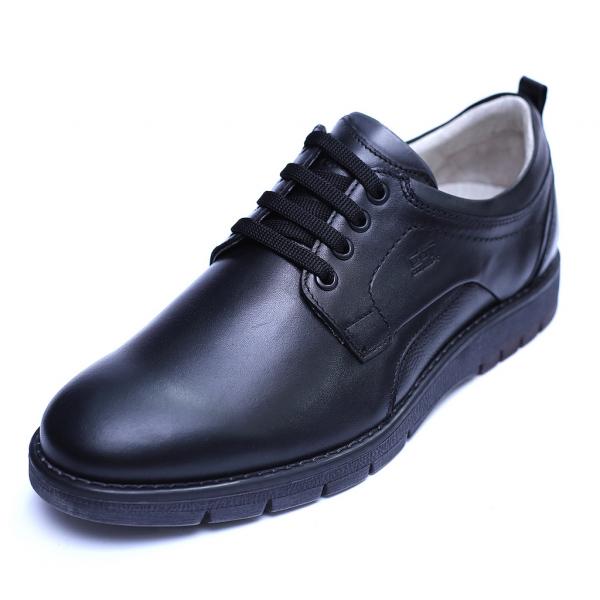 Pantofi barbati din piele naturala, Sir, Gitanos, Negru, 39 EU 0