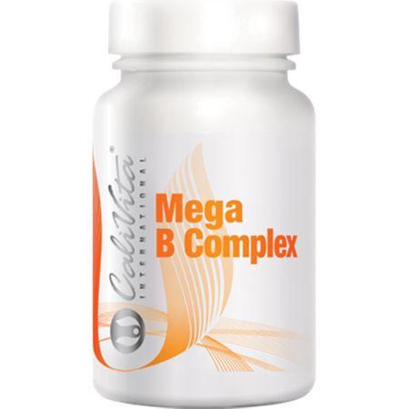 Supliment pentru cresterea rezistentei la stres, Mega B Complex, 100  tablete, CaliVita 0