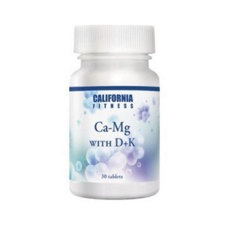 Calciu cu magneziu si vitamina D, Ca-Mg with D+K, 30 tablete, CaliVita 0