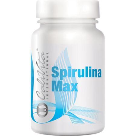 Complex nutritiv cu spirulina, fier, zinc si vitamina B pentru detoxifiere si alcalinizare, Spirulina Max, 60 tablete, CaliVita 0