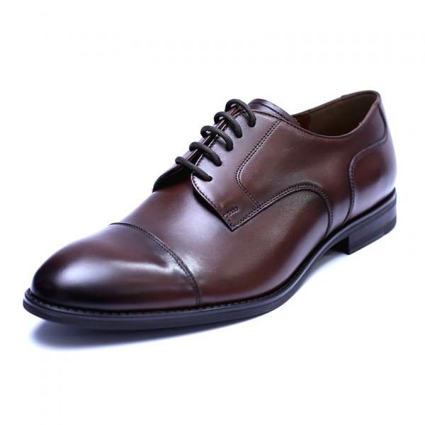 Pantofi barbati din piele naturala, Marlon, ANNA CORI, Maro inchis, 39 EU [0]