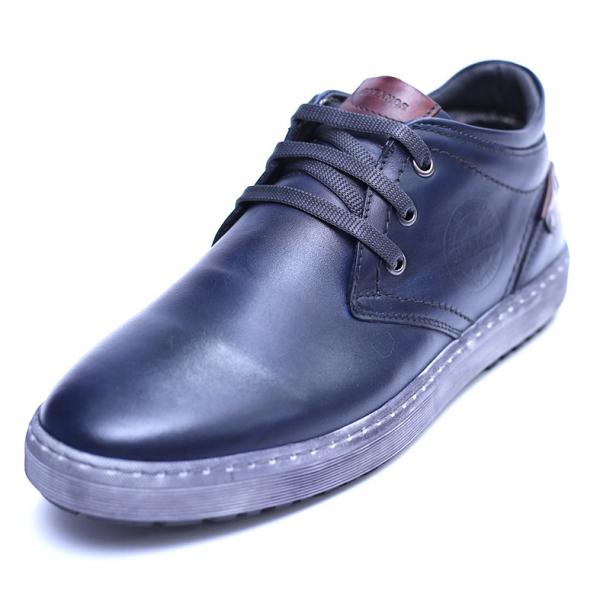 Pantofi barbati din piele naturala, Jim, Gitanos, Bleumarin, 39 EU 0
