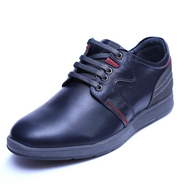 Pantofi barbati din piele naturala, Martin, Gitanos, Bleumarin, 39 EU 0