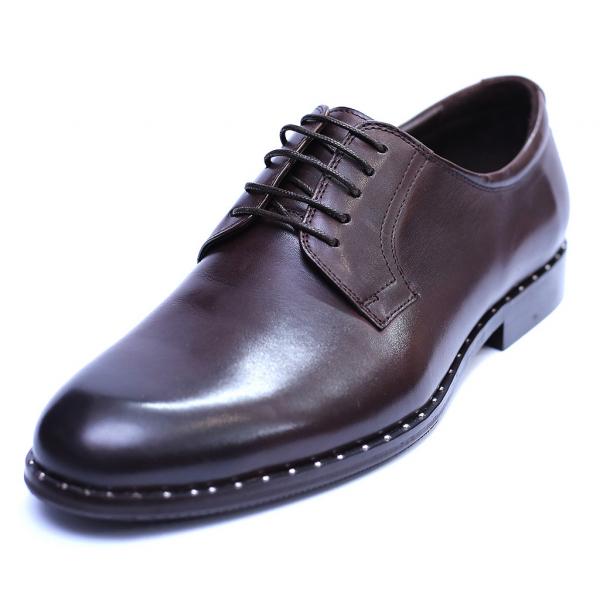 Pantofi barbati din piele naturala, Van, SACCIO, Maro, 39 EU 0