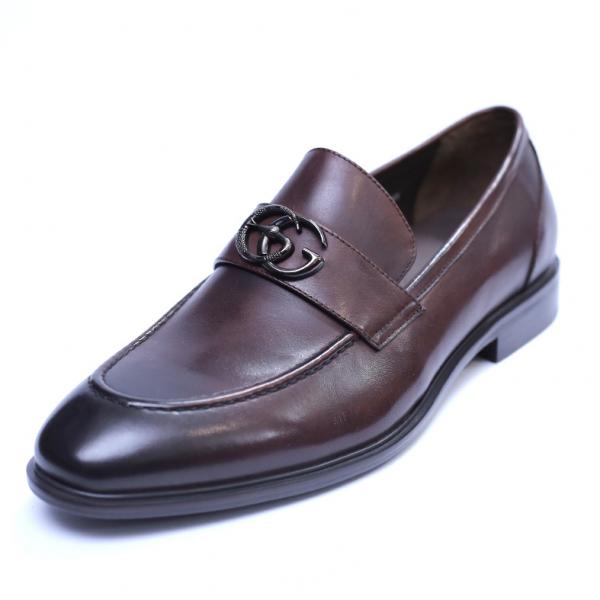 Pantofi barbati din piele naturala, Dolce vita, SACCIO, Maro, 39 EU 0