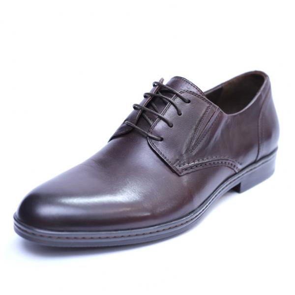 Pantofi barbati din piele naturala, Knight, SACCIO, Maro, 39 EU [0]
