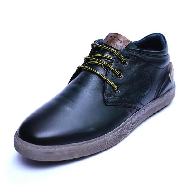 Pantofi barbati din piele naturala, Jim, Gitanos, Verde, 39 EU 0