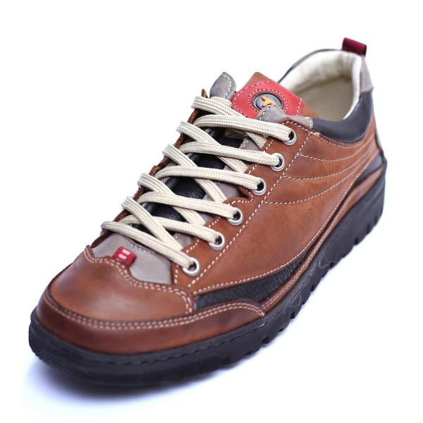 Pantofi barbati din piele naturala, JK, Gitanos, Maro, 39 EU 0