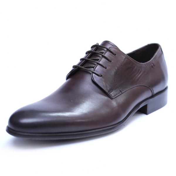 Pantofi barbati din piele naturala, Leo, SACCIO, Maro, 39 EU [0]