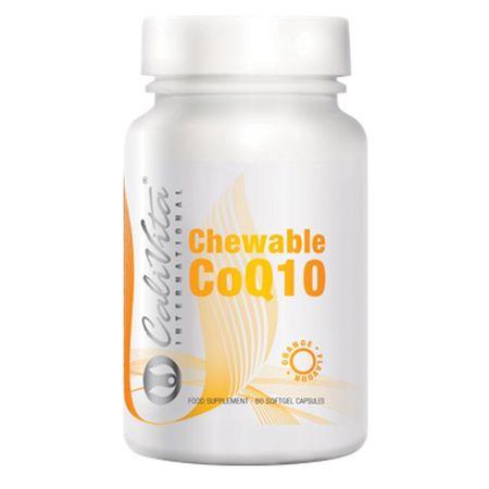 Coenzima Q10 masticabila cu aroma de portocala, Chewable CoQ10 , 60 capsule  gelatinoase, CaliVita 0