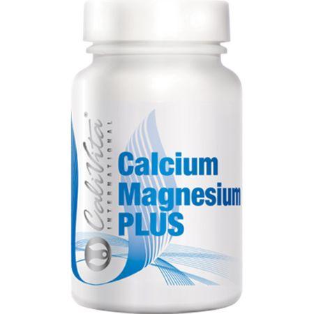 Calciu, magneziu, vitamina D3 si vitamina K2 , Calcium Magnesium Plus, 100 capsule, CaliVita 0