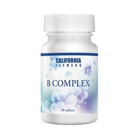 Complex de vitamina B pentru sanatatea sistemului nervos, Vitamina B Complex, 30 tablete, CaliVita [0]