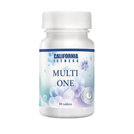 Complex de vitamine, antioxidanti, minerale si bioflavonoide pentru cresterea vitalitatii, Multi One, 30 tablete, CaliVita 0