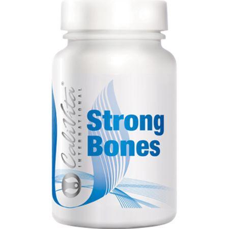 Supliment cu magneziu si calciu pentru rezistenta oaselor, Strong Bones, 100 capsule, CaliVita 0