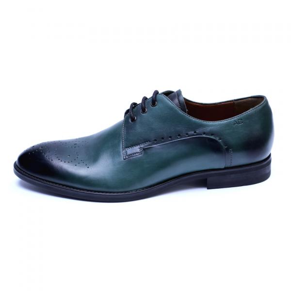Pantofi eleganti pentru barbati din piele naturala, Soni, ANNA CORI, Verde, 39 EU 1
