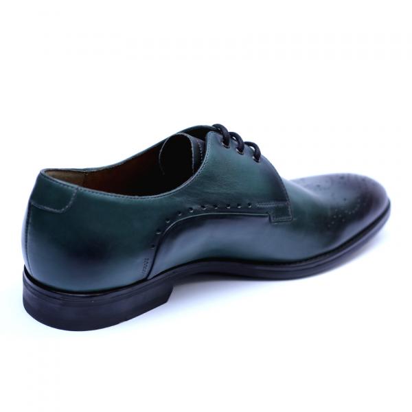 Pantofi eleganti pentru barbati din piele naturala, Soni, ANNA CORI, Verde, 39 EU 2
