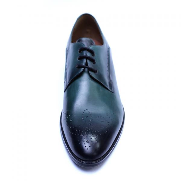 Pantofi eleganti pentru barbati din piele naturala, Soni, ANNA CORI, Verde, 39 EU 3