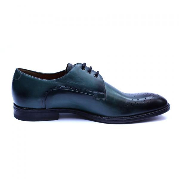 Pantofi eleganti pentru barbati din piele naturala, Soni, ANNA CORI, Verde, 39 EU 4