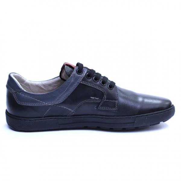 Pantofi barbati din piele naturala, Brad, Gitanos, Negru, 39 EU 2
