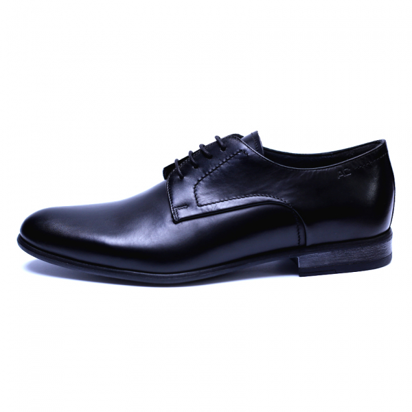 Pantofi barbati din piele naturala, Russel, ANNA CORI, Negru, 39 EU 1