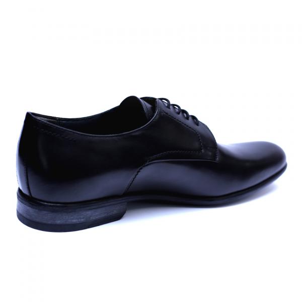 Pantofi barbati din piele naturala, Russel, ANNA CORI, Negru, 39 EU 2