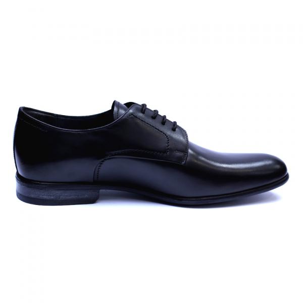 Pantofi barbati din piele naturala, Russel, ANNA CORI, Negru, 39 EU 3